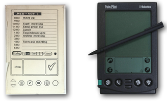 palm-pilot-wood-model-next-to-product